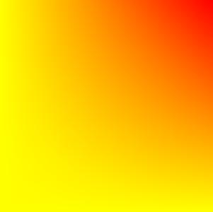右上が赤く変化した四角形