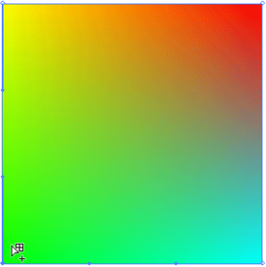 四隅それぞれに色を指定した四角形