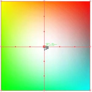 四角形の中心にメッシュポイントを追加