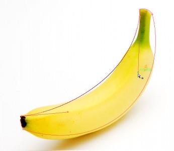 バナナの形に変えていく