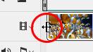 動画の先端にマウスポインタをあてた状態